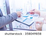 business people discussing the...   Shutterstock . vector #358049858