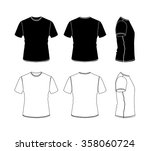 t shirt outline icon collection ... | Shutterstock .eps vector #358060724