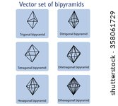 vector icons set of bipyramids... | Shutterstock .eps vector #358061729