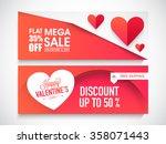 creative website header or... | Shutterstock .eps vector #358071443
