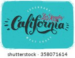 handcrafted lettering... | Shutterstock .eps vector #358071614