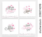 Set Of Elegant Greeting Cards...