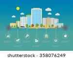 flat design vector info graphic ...   Shutterstock .eps vector #358076249