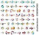 paper style arrow logos | Shutterstock .eps vector #358084583