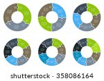 set of circular puzzle... | Shutterstock .eps vector #358086164