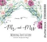 watercolor wedding invitation... | Shutterstock . vector #358088888
