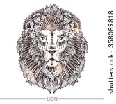 Ornamental Tattoo Lion Head....