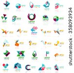 collection of colorful abstract ... | Shutterstock .eps vector #358093934