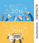 2016 new year business success... | Shutterstock .eps vector #358098278
