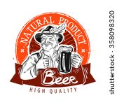 beer  ale vector logo design... | Shutterstock .eps vector #358098320