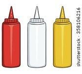 vector set of color fast food... | Shutterstock .eps vector #358106216