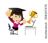 people set   e learning concept   Shutterstock .eps vector #358107470