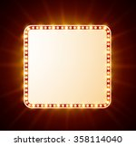 luxurious retro banner with... | Shutterstock .eps vector #358114040