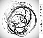 random intersecting circles ... | Shutterstock .eps vector #358120610