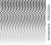 abstract grid  mesh of wavy ... | Shutterstock .eps vector #358122014