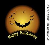 happy halloween. vector...   Shutterstock .eps vector #358124750