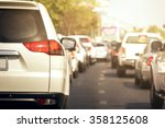 traffic jams in the city   rush ... | Shutterstock . vector #358125608