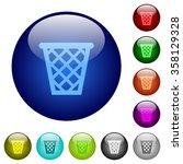 set of color trash glass web...