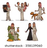 set of with arabian cartoon... | Shutterstock .eps vector #358139060