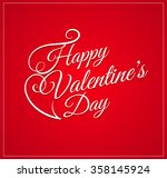valentine's day greeting card... | Shutterstock .eps vector #358145924