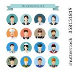 a set of professions people.... | Shutterstock .eps vector #358151819