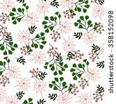 floral pattern in vector | Shutterstock .eps vector #358152098