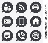 contact  mail icons.... | Shutterstock .eps vector #358154774