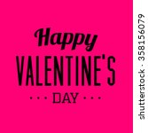 valentines day poster   Shutterstock .eps vector #358156079