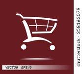 shopping cart sign icon  vector ... | Shutterstock .eps vector #358162079