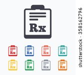 medical prescription rx sign... | Shutterstock .eps vector #358162796