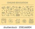 line design concept web banner... | Shutterstock .eps vector #358166804