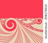 japanese style ocean... | Shutterstock .eps vector #358170014