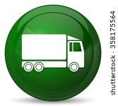 truck icon. internet button on... | Shutterstock . vector #358175564