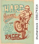 Motorcycle Motocross  Label ...