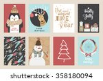 set of christmas cards. | Shutterstock .eps vector #358180094