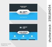 creative business card print... | Shutterstock .eps vector #358184054