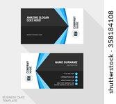 creative business card print...   Shutterstock .eps vector #358184108