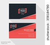 creative business card print... | Shutterstock .eps vector #358184780