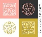set of decorative floral frames ... | Shutterstock .eps vector #358185470