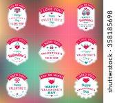 set of vintage happy valentine... | Shutterstock .eps vector #358185698