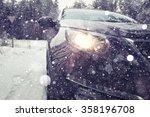 winter car wheel studs  the... | Shutterstock . vector #358196708