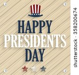 Presidents Day Poster. Wooden...