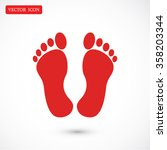 feet icon | Shutterstock .eps vector #358203344