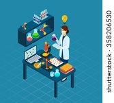scientific research in... | Shutterstock .eps vector #358206530