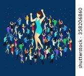 Dancing People Isometric...