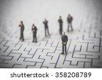 Maze And Businessmen  Miniature