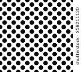 seamless black and white polka...   Shutterstock .eps vector #358211120