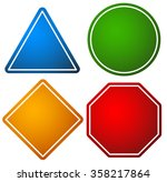 set of road signs. triangle ... | Shutterstock .eps vector #358217864