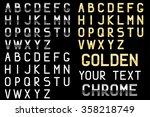 alphabet. chrome letters ... | Shutterstock .eps vector #358218749