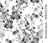 watercolor monochrome imprints... | Shutterstock . vector #358221140